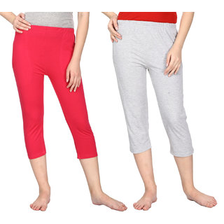 Cotton Capris for Women (Pack of 2)