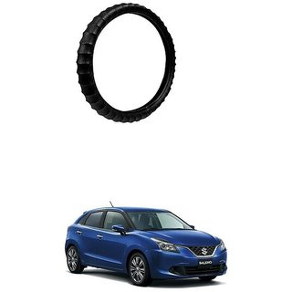 KunjZone Highly Quality Premium Finger Grip Steering Cover Black For Maruti Suzuki Baleno