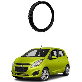 KunjZone Highly Quality Premium Finger Grip Steering Cover Black For Chevrolet Spark