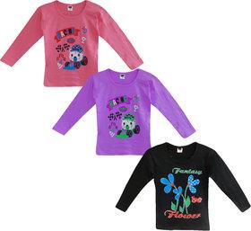 Jisha Fashion Girls Full Sleeves Top (RKGGIRLSFULL) Pack of 3