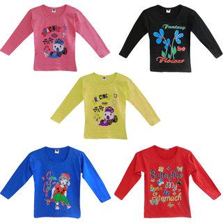 Jisha Fashion Girls Full Sleeves Top (RKGGIRLSFULL) Pack of 5