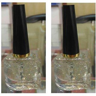 True Glitter Nail Paint set of 2 pc(colorSilver)