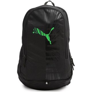 Puma Graphic Black-Green Backpack Bag