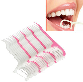 NEW Pack of 40 Pic,7.5cm Dental Floss Toothpick Teeth Cleaning Tool