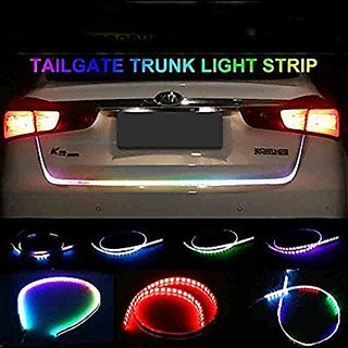 Multi Color Flow LED Strip Trunk Light / Dicky Light / Boot LED DRL Strip Light (works with all cars)