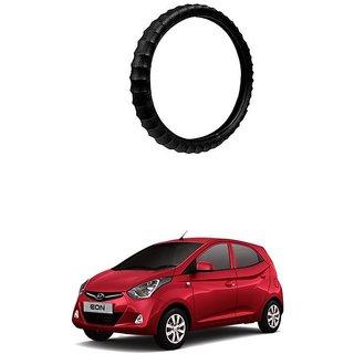 KunjZone Highly Quality Premium Finger Grip Steering Cover Black For Hyundai Eon