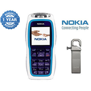 Refurbished Nokia 3220 With 64Gb Pendrive (1 Year Warranty)