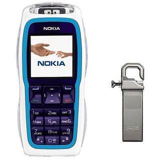 Refurbished Nokia 3220 With 64Gb Pendrive (1 Year Warranty)