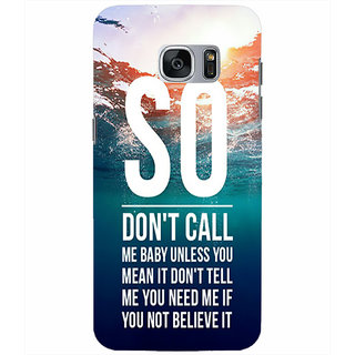Printgasm Samsung Galaxy S7 printed back hard cover/case,  Matte finish, premium 3D printed, designer case