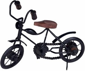 BuzyKart Wooden  Iron Motor Cycle Antique Home Decor Small Bike