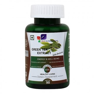 Green Tea Extract With Probiotic, 90 Capsules Boosts En