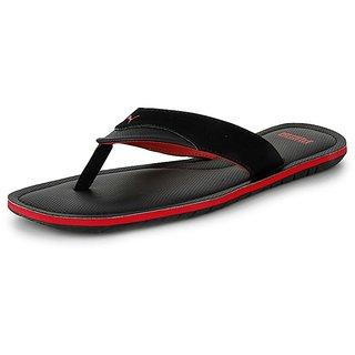 Puma Mens Black And Red Flip Flops