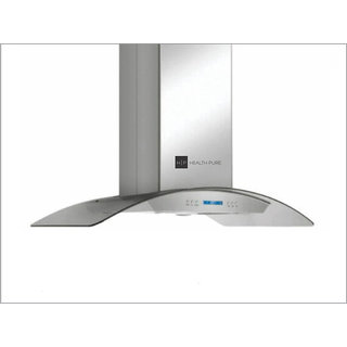 Health Pure Gloria 100 (Island) Chimney + Vegipure (Worth Rs 4500 Absolutely Free) + (Size 100 cm Stainless Steel Finis