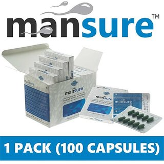 ManSure for men - 100 ayurvedic with 6 herbs (konch, safed moosli, ashwagandha, salab mishri, shatavar and gokharu)