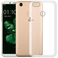 Oppo F-5 Transparent Ultra Protection Rubberised Crystal Clear Back Phone Cover for Oppo F-5