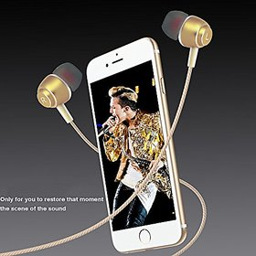 EARPHONE/HEADPHONE Type C Headphone With Mic Rugged Metallic Series C EZ369-Gold