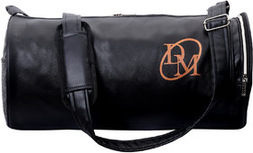 Dee Mannequin Classic Black Leatherite Gym Bag