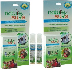 Nature Sure Herbal Mosquito Repellent Roll-On - Pack of 2