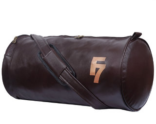 Fashion 7 Chocolate Leathrite Gym Bag