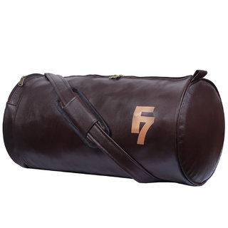 Fashion 7 Chocolate Leathrite Gym Bag