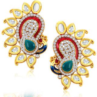 Sukkhi Marvellous Peacock Shape Gold Plated Earring for women