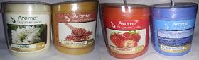 Sattva Arome Fragrance Candles Combo Set of 4 - Sandalwood + Jasmine + Strawberry + Ocean Breeze