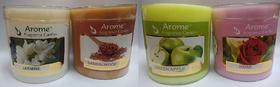 Sattva Arome Fragrance Candles Combo Set of 4 - Sandalwood + Jasmine + Green Apple + Rose
