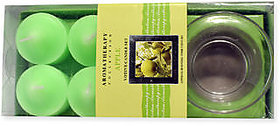 Apple Aromatherapy Collection Votive Candle Set- Set of 6 (Glass Holder -FREE)