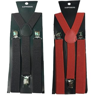 Rege suspender for Men Boys Black in colour (pack of 1)