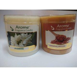 Sattva Arome Fragrance Candles Combo-  Sandalwood + Jasmine