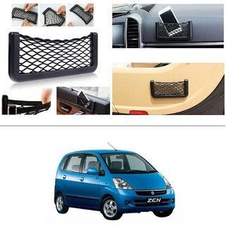 KunjZone Storage Bag Box Car Seat Side Back Net Phone Holder Pocket Organizer For Maruti Suzuki Zen