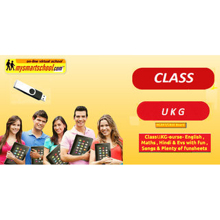 Class UKG-CBSE/NCERT  UG Pen Drive Course- Engilsh,Maths,Hindi Evs with FUN  ,Songs Plenty of FUNSHEETS