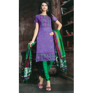 Office or party wear embroidery salwar kameez suit unstitched dress material