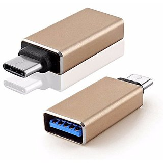Kushahu Metal High-Speed Ultra-thin USB Type-C Male OTG to USB 3.0 Female for smartphones Type-C OTG Supported Device