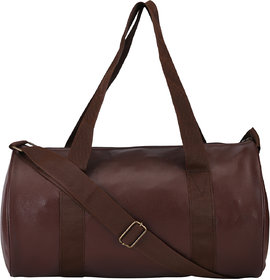 Fashion 7 Brown Leatherite Gym Bag