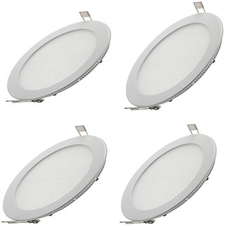 Parth Led Slim  Panel 18W Round 4Pcs Colour  - Warm With 2Year Warranty