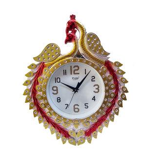 NK ENERPRISES decorative peacock wall clock ( 38 x 30 x 5)