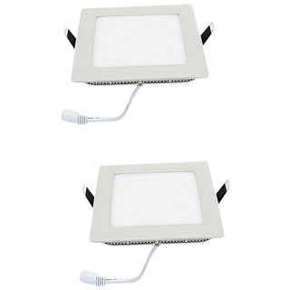 Parth Led Slim Panel 18W Square 2Pcs Colour  - Warm  With 2Year Warranty