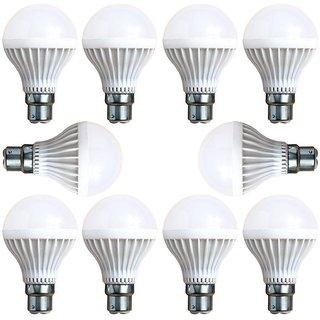 Premium High Quality 9 Watt LED Bulb Pack of 10 (Cool Day Light)