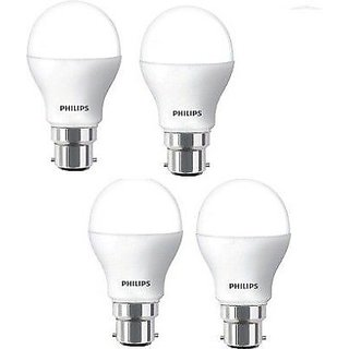 Philips 9W LED Bulb (Pack of 4, Cool White )