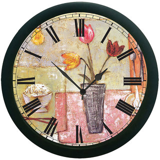 AE World Dinner Time Wall Clock (With Glass)  12 Inches