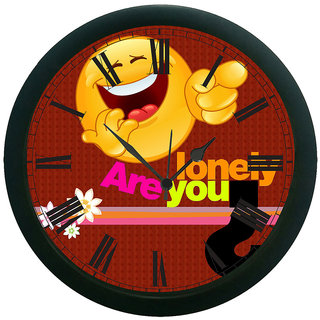AE World Are You Lonely 3D Wall Clock (With Glass) 12 Inches