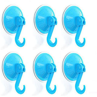 6 Pieces Vacuum Suction Hanging Hooks