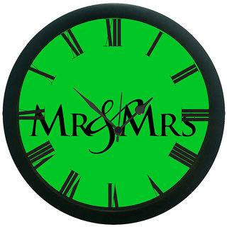 meSleep Mr & Mrs Wall Clock (With Glass)