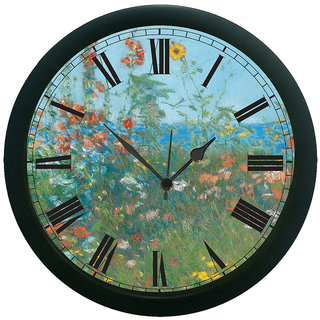 AE World Floral Oil 3D Wall Clock (With Glass) 13 Inches