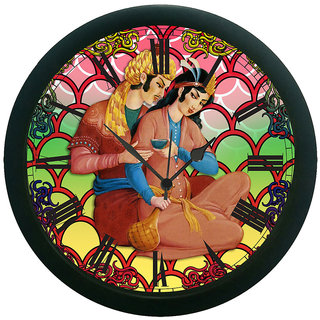 AE World Raja Rani Wall Clock (With Glass)   13 Inches
