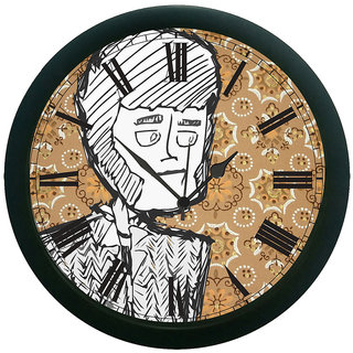 meSleep Sketched Face 3D Wall Clock (With Glass)