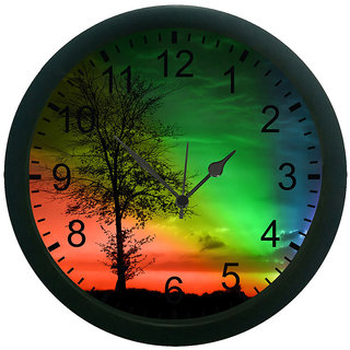meSleep Prism Effect 3D Wall Clock (With Glass)