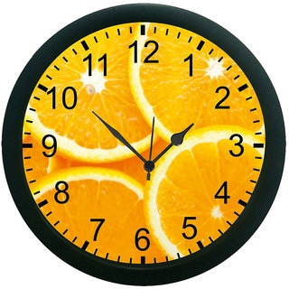 meSleep Orange Wall Clock (With Glass)