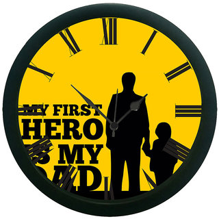 meSleep My First Hero Is My Dad Wall Clock (With Glass)